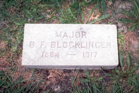 BLOCKLINGER, MAJOR BENJAMIN FRANK - Dubuque County, Iowa | MAJOR BENJAMIN FRANK BLOCKLINGER