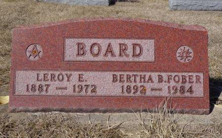 FOBER BOARD, BERTHA B. - Dubuque County, Iowa | BERTHA B. FOBER BOARD