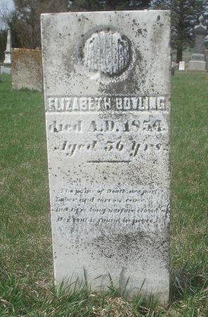 BOWLING, ELIZABETH - Dubuque County, Iowa   ELIZABETH BOWLING
