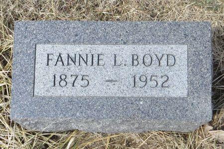 BOYD, FANNIE L. - Dubuque County, Iowa | FANNIE L. BOYD