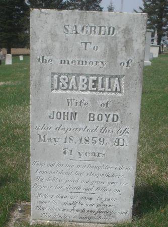 BOYD, ISABELLA - Dubuque County, Iowa | ISABELLA BOYD