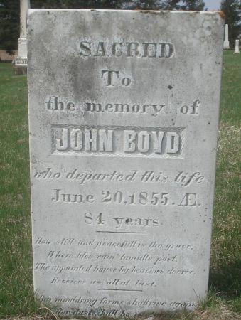 BOYD, JOHN - Dubuque County, Iowa | JOHN BOYD