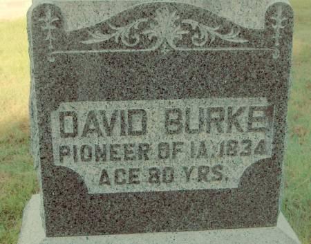 BURKE, DAVID - Dubuque County, Iowa   DAVID BURKE
