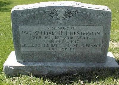 CHESTERMAN, WILLIAM R. - Dubuque County, Iowa | WILLIAM R. CHESTERMAN