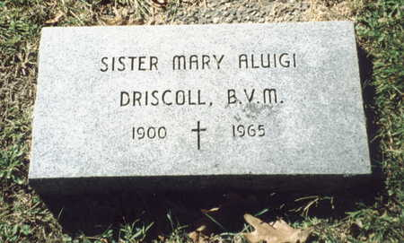 DRISCOLL, SISTER MARY ALUIGI - Dubuque County, Iowa | SISTER MARY ALUIGI DRISCOLL