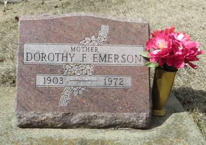 EMERSON, DOROTHY F. - Dubuque County, Iowa | DOROTHY F. EMERSON