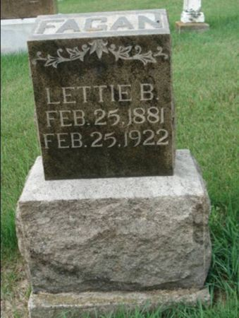 FAGAN, LETTIE B. - Dubuque County, Iowa | LETTIE B. FAGAN