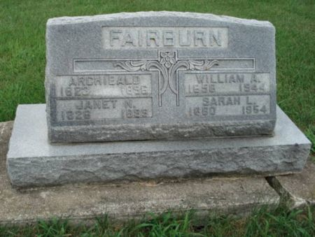 FAIRBURN, ARCHIBALD - Dubuque County, Iowa | ARCHIBALD FAIRBURN