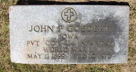 GOEDERT, JOHN P. - Dubuque County, Iowa | JOHN P. GOEDERT