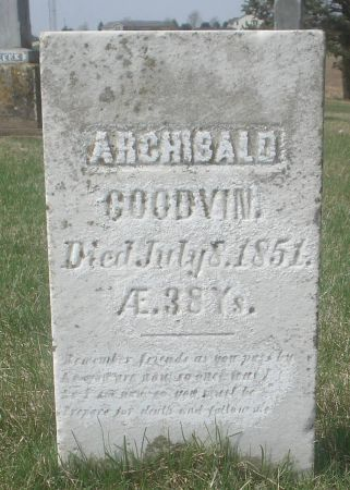 GOODVIN, ARCHIBALD - Dubuque County, Iowa   ARCHIBALD GOODVIN
