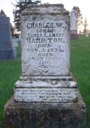 HAMILTON., CHARLES W. - Dubuque County, Iowa   CHARLES W. HAMILTON.