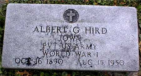 HIRD, ALBERT G. - Dubuque County, Iowa | ALBERT G. HIRD