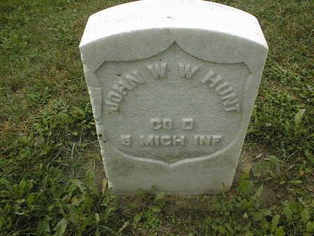 HUNT, JOHN W. W. - Dubuque County, Iowa   JOHN W. W. HUNT