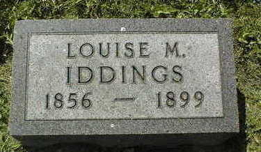IDDINGS, LOUISE M. - Dubuque County, Iowa | LOUISE M. IDDINGS