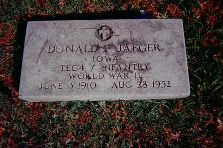 JAEGER, DONALD F. - Dubuque County, Iowa | DONALD F. JAEGER