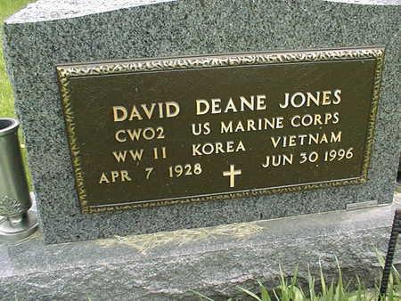 JONES, DAVID DEAN - Dubuque County, Iowa   DAVID DEAN JONES