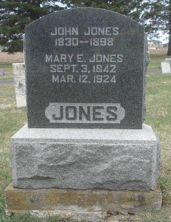 JONES, MARY E. - Dubuque County, Iowa   MARY E. JONES