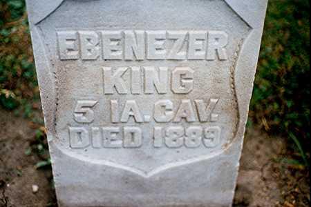 KING, EBENEZER - Dubuque County, Iowa | EBENEZER KING