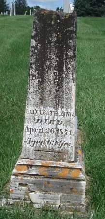 KING, ELIZABETH - Dubuque County, Iowa   ELIZABETH KING
