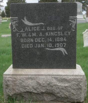 KINGSLEY, ALICE J. - Dubuque County, Iowa | ALICE J. KINGSLEY