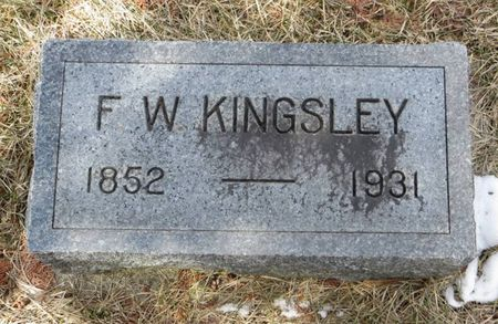 KINGSLEY, F. W. - Dubuque County, Iowa | F. W. KINGSLEY