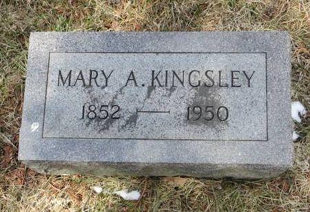 KINGSLEY, MARY A. - Dubuque County, Iowa | MARY A. KINGSLEY