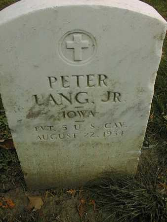 LANG, PETER, JR. - Dubuque County, Iowa | PETER, JR. LANG