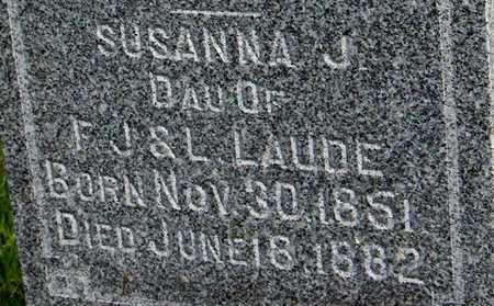 LAUDE, SUSANNA J. - Dubuque County, Iowa | SUSANNA J. LAUDE