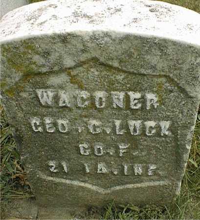 LUCK, WAGONER GEORGE C. - Dubuque County, Iowa   WAGONER GEORGE C. LUCK