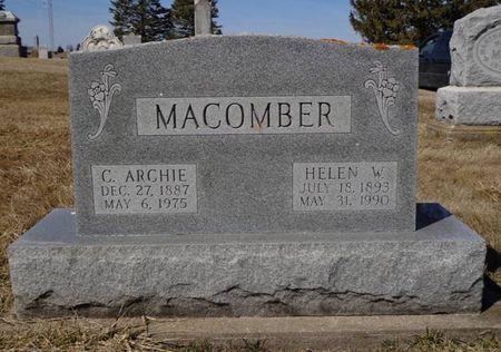 MACOMBER, CHARLES ARCHIBALD - Dubuque County, Iowa | CHARLES ARCHIBALD MACOMBER