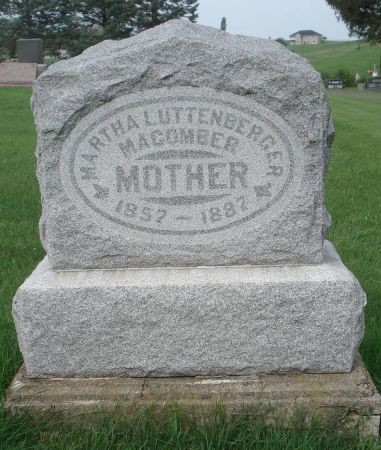 LUTTENBERGER MACOMBER, MARTHA - Dubuque County, Iowa | MARTHA LUTTENBERGER MACOMBER