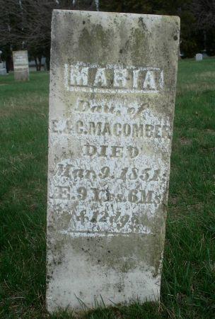 MACOMBER, MARIA - Dubuque County, Iowa   MARIA MACOMBER