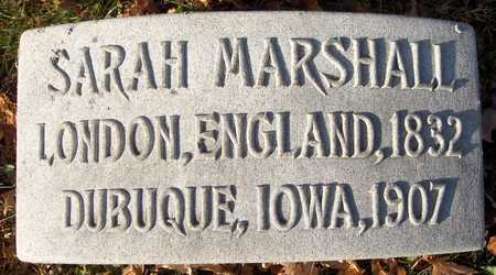 MARSHALL, SARAH - Dubuque County, Iowa | SARAH MARSHALL