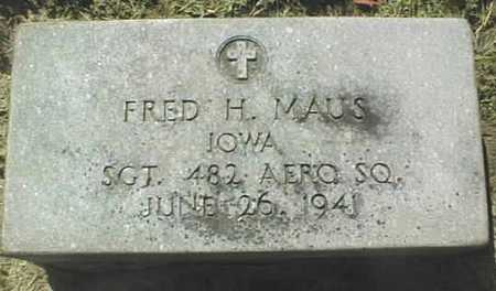 MAUS, FRED H. - Dubuque County, Iowa | FRED H. MAUS