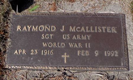 MCALLISTER, RAYMOND J. - Dubuque County, Iowa | RAYMOND J. MCALLISTER