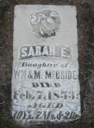 MCBRIDE, SARAH E. - Dubuque County, Iowa | SARAH E. MCBRIDE
