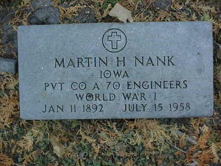 NANK, MARTIN H. - Dubuque County, Iowa | MARTIN H. NANK