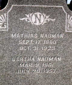 NAUMAN, BERTHA - Dubuque County, Iowa | BERTHA NAUMAN