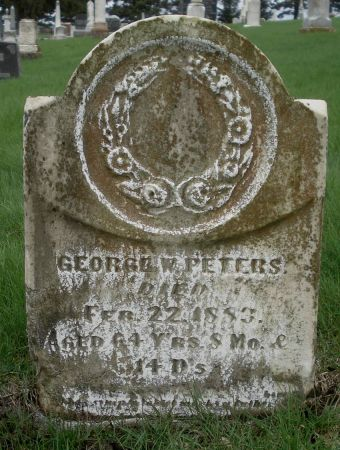 PETERS, GEORGE W. - Dubuque County, Iowa | GEORGE W. PETERS