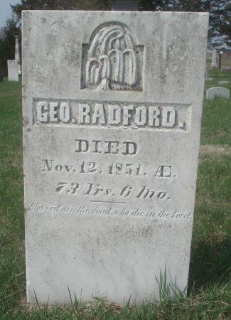 RADFORD., GEORGE - Dubuque County, Iowa | GEORGE RADFORD.