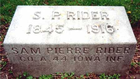 RIDER, SAM PIERRE - Dubuque County, Iowa | SAM PIERRE RIDER