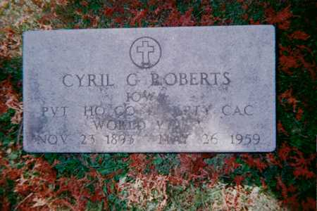 ROBERTS, CYRIL G. - Dubuque County, Iowa | CYRIL G. ROBERTS
