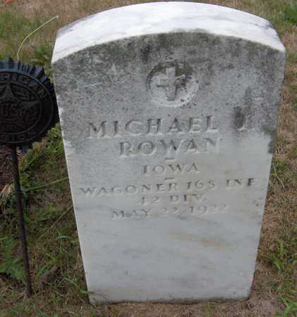 ROWAN, MICHAEL J. - Dubuque County, Iowa   MICHAEL J. ROWAN