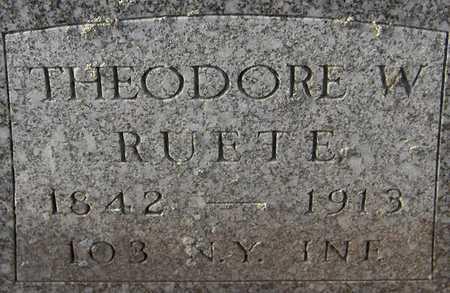 RUETE, THEODORE W. - Dubuque County, Iowa | THEODORE W. RUETE