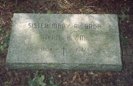RYAN, SISTER MARY RICARDA - Dubuque County, Iowa | SISTER MARY RICARDA RYAN