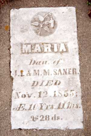 SANER, MARIA - Dubuque County, Iowa | MARIA SANER