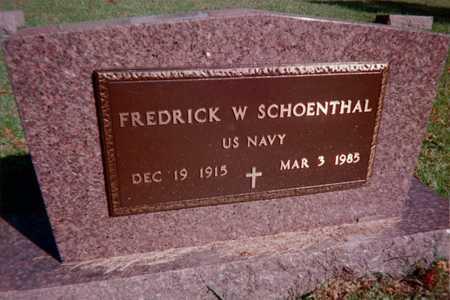 SCHOENTHAL, FREDRICK W. - Dubuque County, Iowa | FREDRICK W. SCHOENTHAL