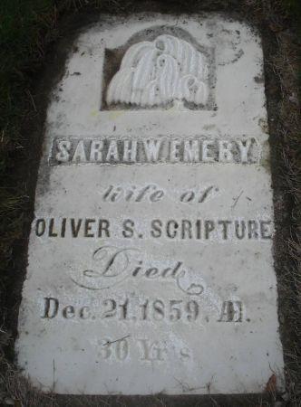 EMERY SCRIPTURE, SARAH W. - Dubuque County, Iowa | SARAH W. EMERY SCRIPTURE
