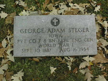 STEGER, GEORGE ADAM - Dubuque County, Iowa | GEORGE ADAM STEGER
