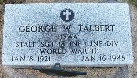 TALBERT, GEORGE W. - Dubuque County, Iowa   GEORGE W. TALBERT